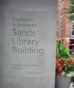 Inscription near front door of Princeton library